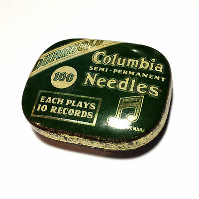 VINTAGE COLUMBIA DURAGOLD GRAMOPHONE Semi Permanent Needles TIN