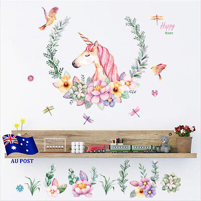 Unicorn Nursery Wall Decal Mural Sticker Removable Vinyl Home Decor Stickers BO