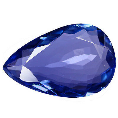 2.92Ct IF Valuable Pear Cut 13 x 8 mm Natural Purple Blue Tanzanite