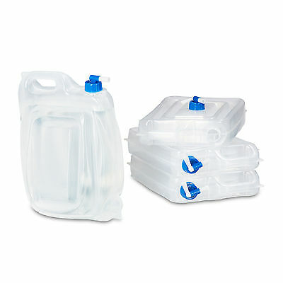Camping Water Canister Set of 4, 7.5 L, 15 L of Drinking Water, Empty Containers