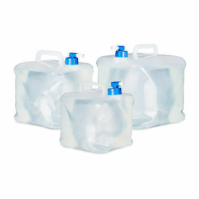 Folding Water Container Set of 4, Drinking Water Canister for Festivals, Camping