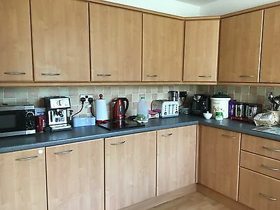 Gower beech kitchen . Approx 14 units