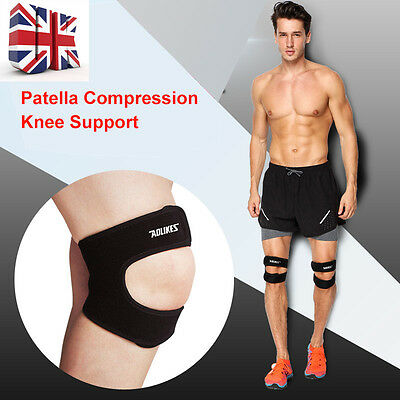 Adjustable Patella Compression Knee Support Sore Tendonitis Strap Pain Relief UK