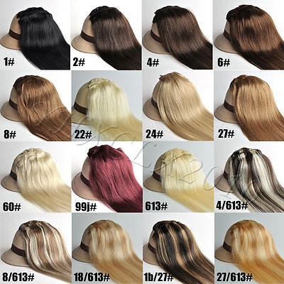 Full Head Clip in Remy 100% Human Hair Extensions 22 Inch 80g 100g 7pcs Set
