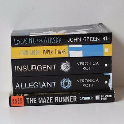 Young Adult Book Bundle, Insurgent, Allegiant, The Maze Runner & John Green
