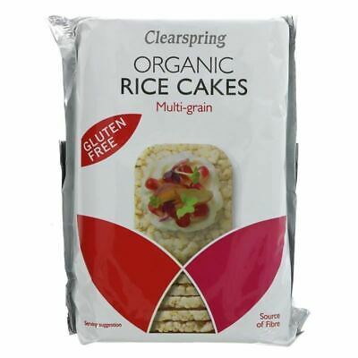 Clearspring | Rice Cakes - 3 Grain, Thin,Org | 6 x 130g