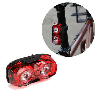 2 LED Cycling Bike Flash Bicycle Red Light Warn Lamp Safety Rear Tail Waterproof