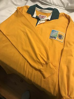 Australia Rugby Jersey - Rugby World Cup - Size L - Cotton Traders Brand