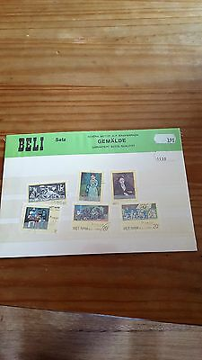 Collection Of 6 Picasso Vietnam Stamps Presentation Pack