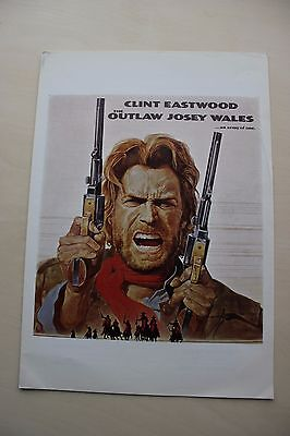 The Outlaw Josey Wales - Clint Eastwood Uk 4 Page Synopsis