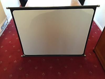 """Pre-owned Vintage Boots Simplex Projector Screen 40"""" x 30"""" with Tubed Case"""