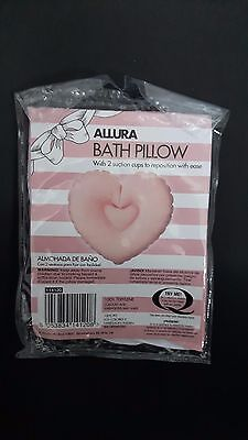 NEW Bath Pillow PINK HEART shape with 2 suction cups