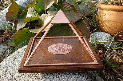 MEDIUM Copper Sri Yantra Orgone Pyramid Healing Reiki Prosperity Energy Power