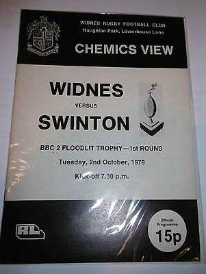 Widnes v Swinton 2nd October 1979 B.B C. 2 Floodlit Competition First Round