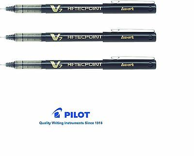PILOT HI-TECHPOINT V7 - LIQUID INK ROLLER BALL PEN in BLACK