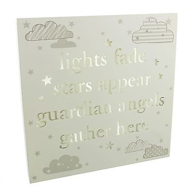 Bambino by Juliana Light Up Nursery Wall Plaque Guardian Angels Message CG1185