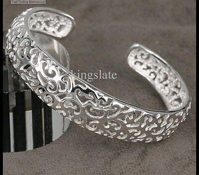 Xmas gift solid sterling silver jewelry bangle bracelet E925