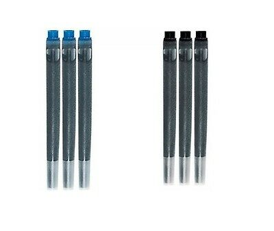 Geniune Parker Quink Ink Fountain Pen Cartridges Black or Blue Refills