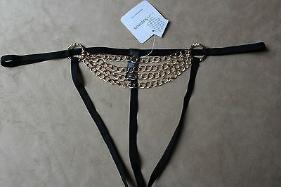 Ann Summers Erotic Chained Thong Size Large New with Tags Vonteese