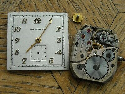 MOVADO Movement  Cal. 375 for parts.