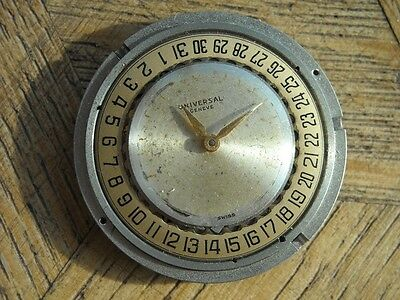 UNIVERSAL GENEVE Automatic Date Movementr Cal. 138 C Bumper For Parts.