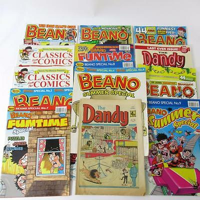 Collection of 15 Beano and Dandy Comic Books - from 1975 onwards