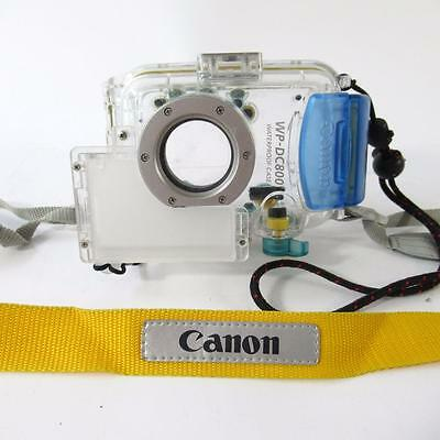 Cannon WP-DC800 Waterproof Camera Case - Clear Case with Yellow Strap - 130ft
