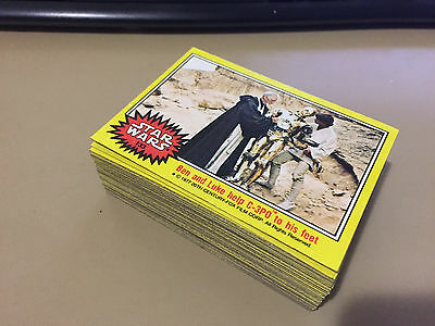 Star Wars - Series 3 (Yellow) - Complete Trading Card Set (66) - 1977 TOPPS - NM