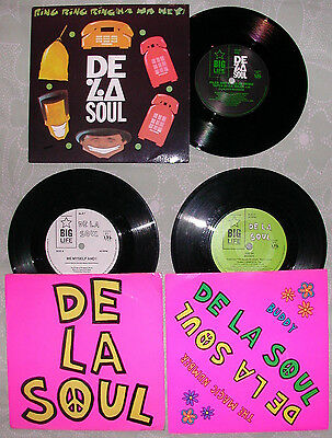 3 x DE LA SOUL rare 7'' single Hip Hop lot Ring/Me Myself & I, The Magic Number