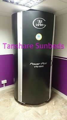 Tanshare Vertical Tanning Stand Up Sunbed with BRANDED POWER PLUS LAMPS