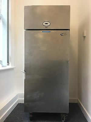 Foster upright large stainless steel fridge
