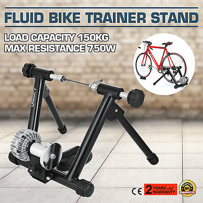 Indoor Fluid Bike Bicycle Trainer Stand Cycling Steel Frame Regulator Home Gym