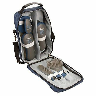 Horse Grooming Kit Equine 7 Piece Luxury Set Blue Lightweight Carry Bag
