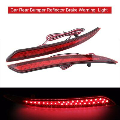 Car Red LED Bumper Reflector Tail Brake Light For Ford Mondeo 4 2011-2013 OB