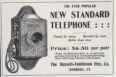 Antique 1905 Ad(F6)~Russell-Tomlinson Elec. Co. Danbury, Ct.  New Standard Tele
