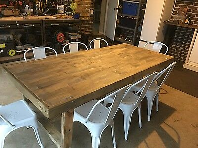 New Dining Table (8 seater) - Rustic Beach House / Hamptons Style - Rustic Urban