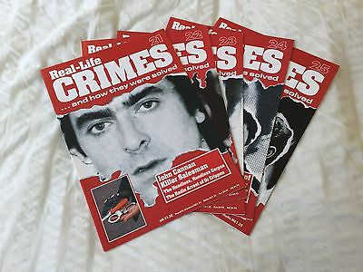 5 X Real Life Crimes Magazine Issues 21 22 23 24 And 25