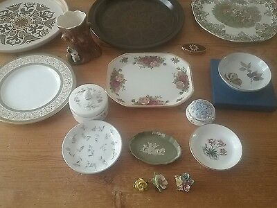 Job Lot Car Boot China -Royal Worcester/Wedgwood/Royal Albert/Hornsea/Minton etc