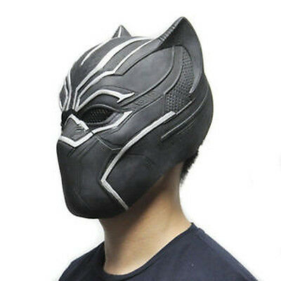 BLACK PANTHER (The Avengers) LATEX MASK Movie Fancy Dress Halloween Party