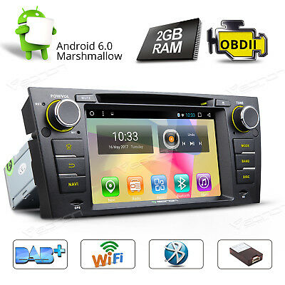GA7165S Android 6.0 2GB Car DVD Player GPS Navigation OBD-II W For BMW E90-E93