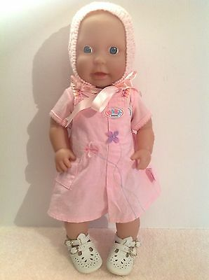 Peterkin V Realistic Baby Doll Blue Eyes 40cm Tall Including Bonnet & Shoes VGC