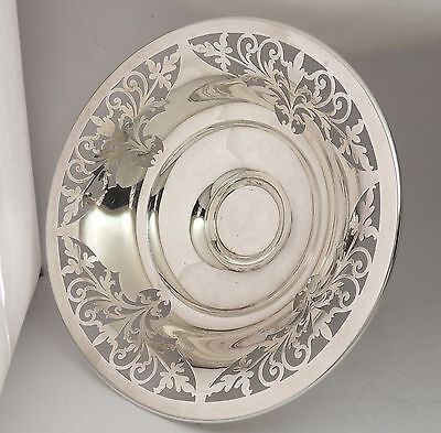 Antique / Vintage Solid Silver Pierced Footed Bowl Hallmarked Sheffield 1922