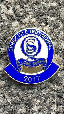 Queen of the South badge - Derek Lyle Testimonial