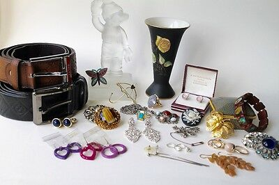 Job Lot of mixed collectables, jewellery, accessories, retro boot fairs etc.