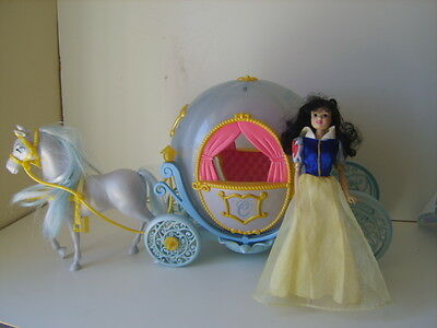 Disney toy  Cinderella Horse And Carriage snow white doll