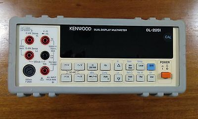 KENWOOD DL-2051 5.5 Dual Display Bench Multimeter ESCORT AGILENT KEYSIGHT U3402A