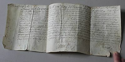 Ancien Document Lettre Signee Signature A Identifier Xviii Eme Date 1724