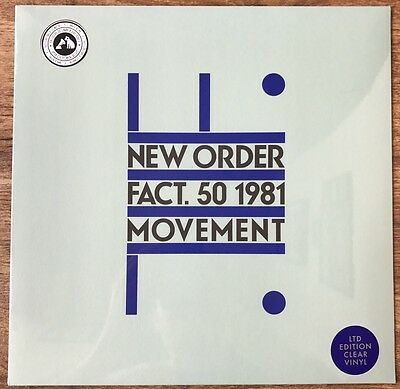 New Order Movement LTD EDITION Clear Vinyl RARE!!!
