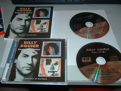 BILLY SQUIER - EMOTIONS IN MOTION / SIGNS OF LIVE 2 x CD ALBUM