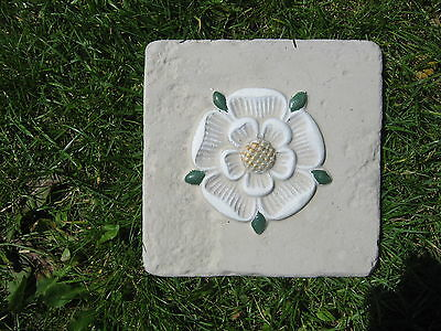 Yorkshire Rose Wall Plaque Home/garden /plain Stone Available